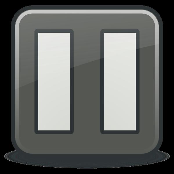 Pause icon vector clip art