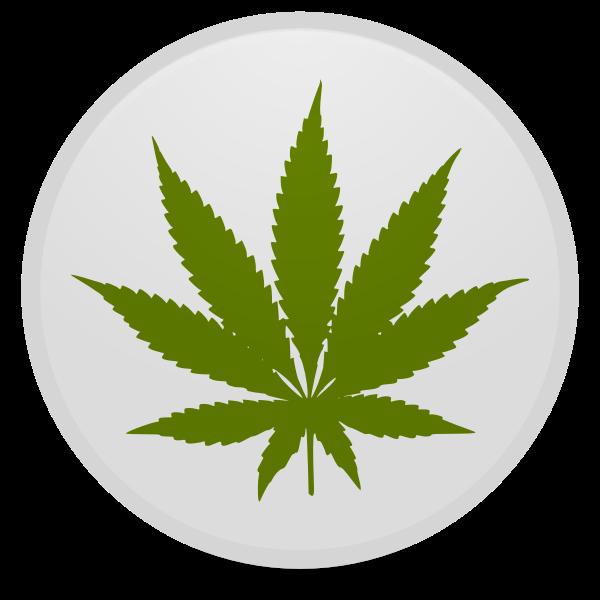 Marijuana symbol vector image