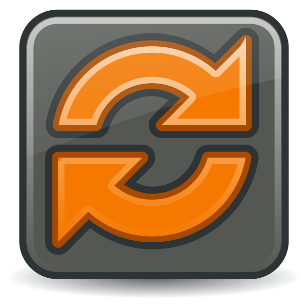 Synchronize icon vector image