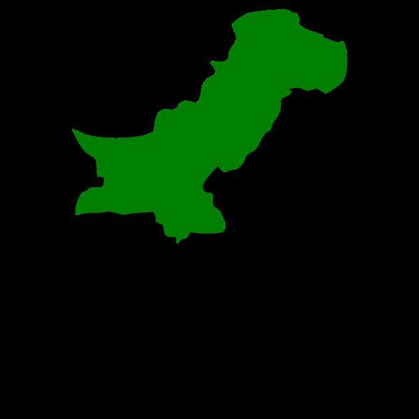 Green Pakistan map