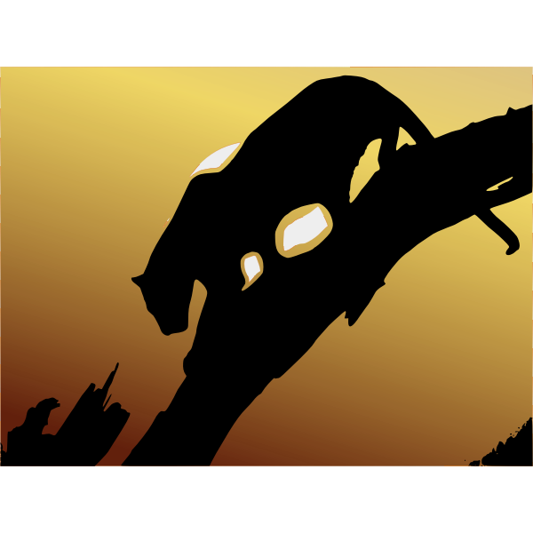 Silhouette vector illustration of black panther