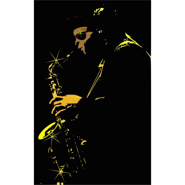 Jazz player vector image