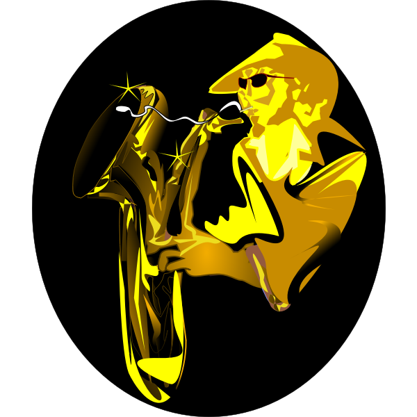 Sax player vector illustration