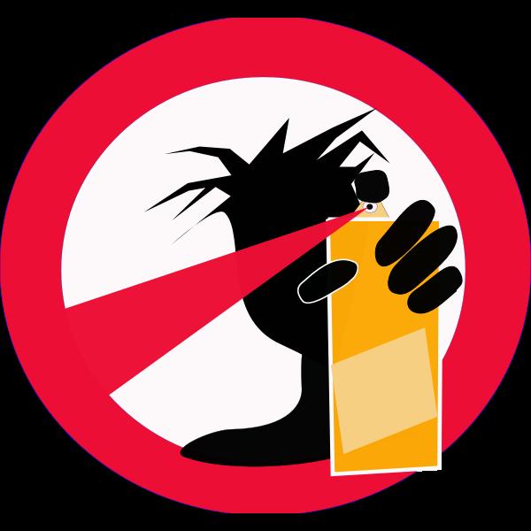 No graffiti sign vector image