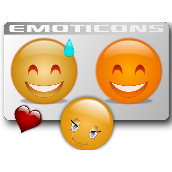 Three Emoticons Free Svg