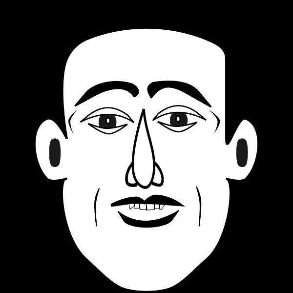 Caricature man vector illustration