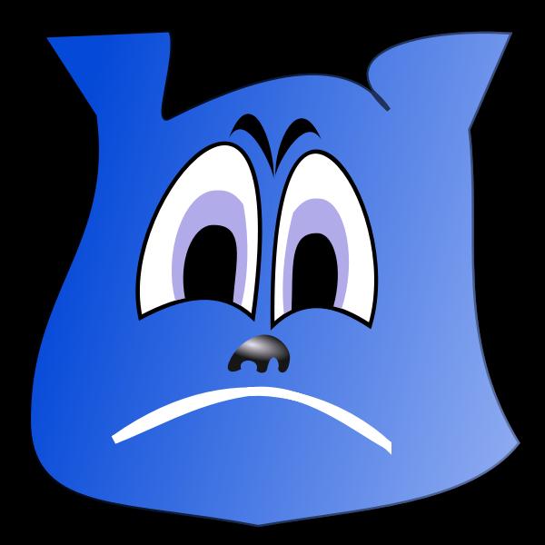 Sad blue emoji