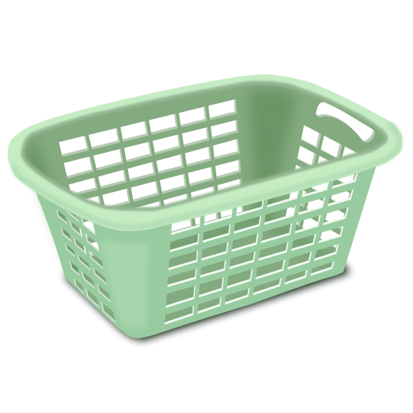 Plastic laundry basket vector drawing