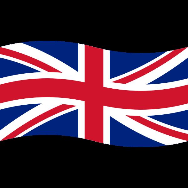 Wavy Union Flag Vector