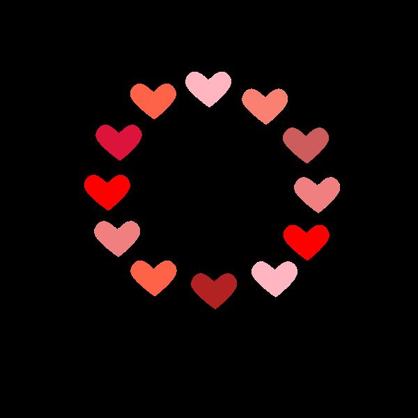 Circle of love vector illustration