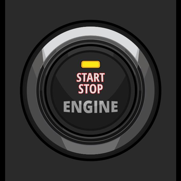 Engine start stop button vector illustration