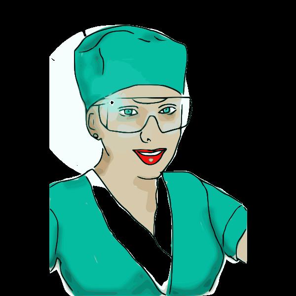 Medical nurse vector graphics