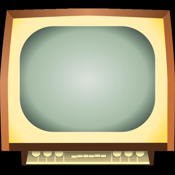 Vintage TV vector image