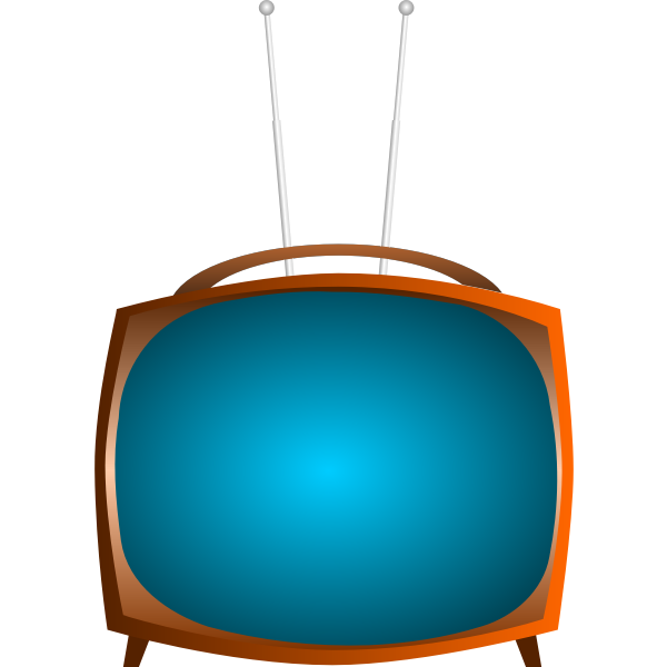 Old TV vector clip art