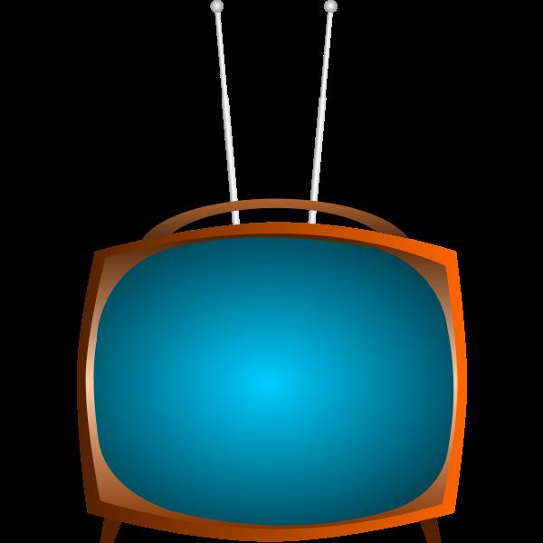 Old TV vector clip art