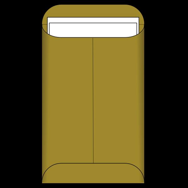 Large brown envelope vector image