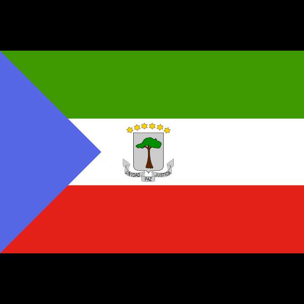 Vector graphics of flag of Equatorial Guinea