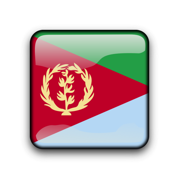 Eritrea glossy vector flag