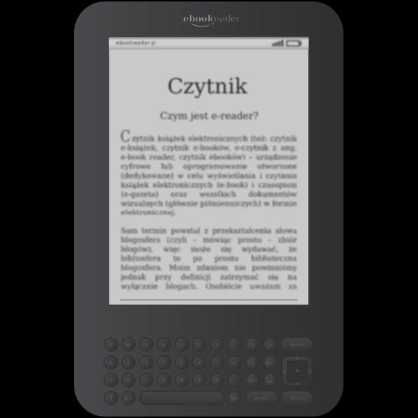 Vector image of e-book reader