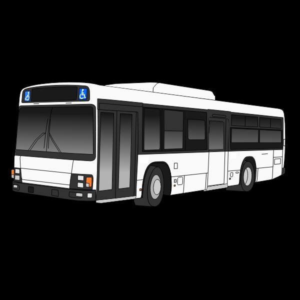 Black and white autobus