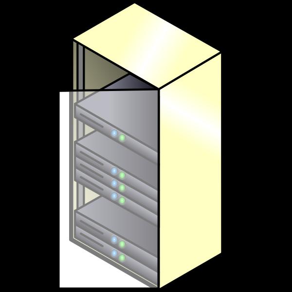 Servers closet vector image