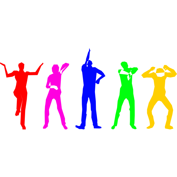 Silhouettes of dancers vector illustration