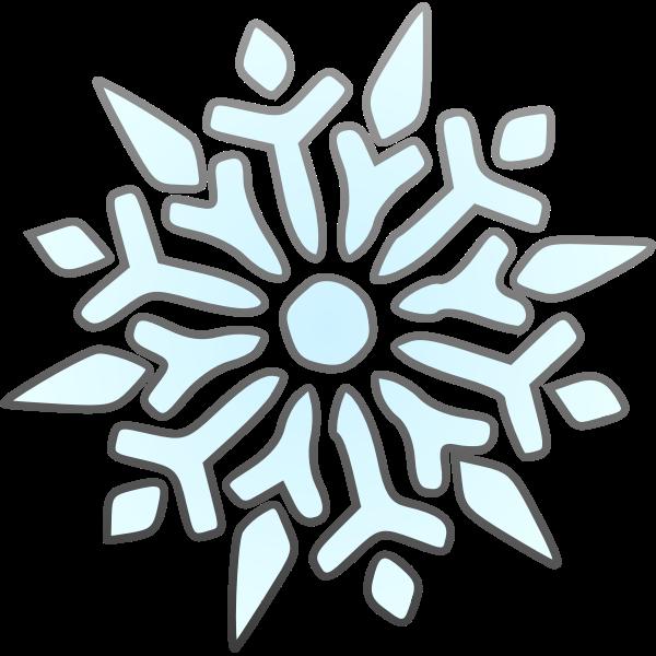 Vector graphics of segmented snowflake