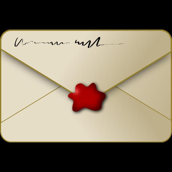 Sealed envelope vector image