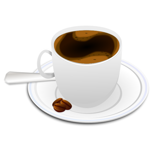 Vector illustration of cup of espresso coffee