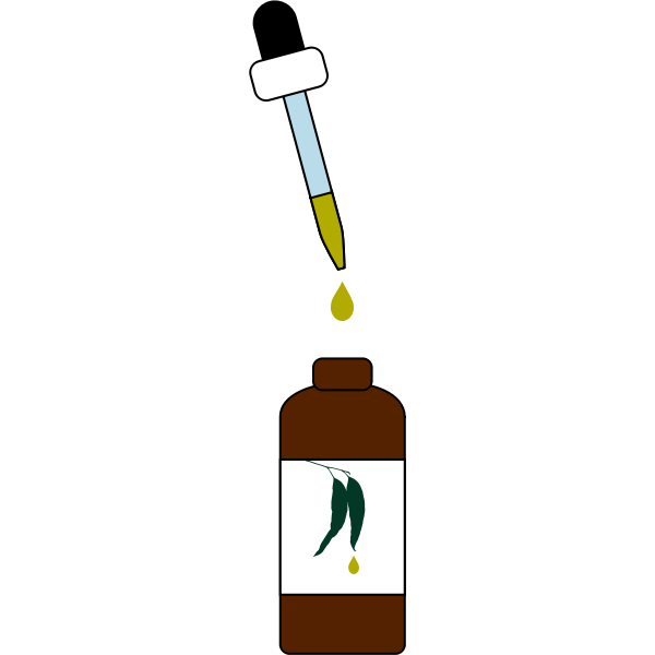 Bottle dropper with liquid container color illustration