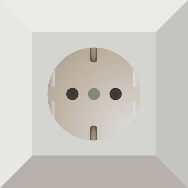 German power socket vector clip art