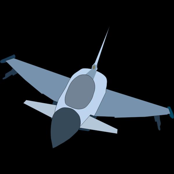 Eurofighter Typhoon airplane vector image