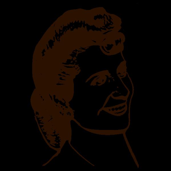 Eva Peron portrait vector drawing