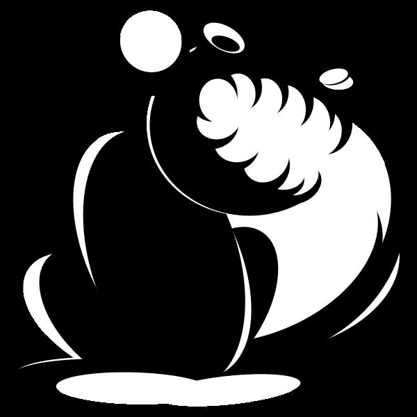 Evil squirrel silhouette