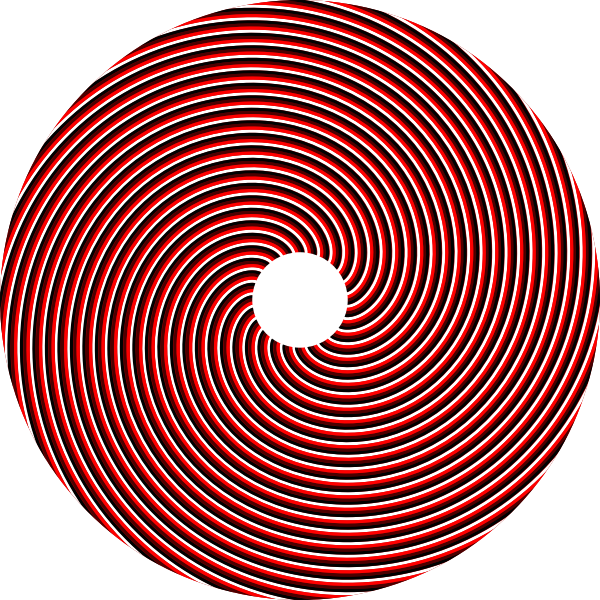 Spiral red circle vector image