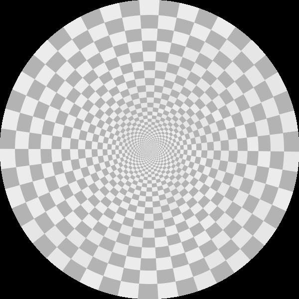 Illusion pattern drawing vector image
