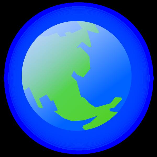 Radiating Earth vector graphics