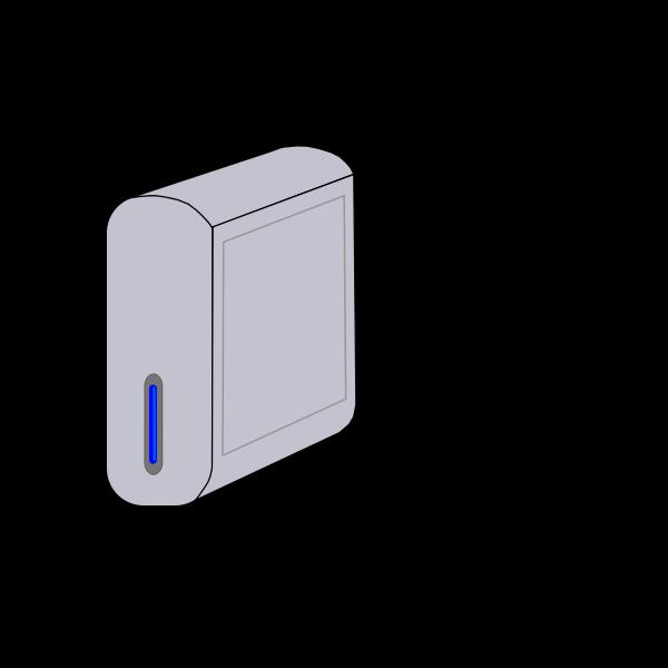 External hard drive vector graphics