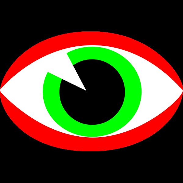 CCTV surveillance eye sign vector image