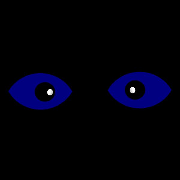 Staring blue eyes vector illustration