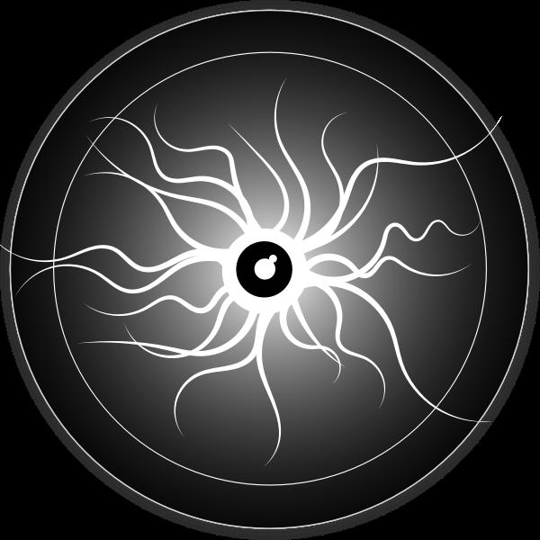 Devil's eye vector image