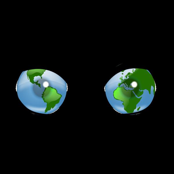 Eyes for the world vector illustration