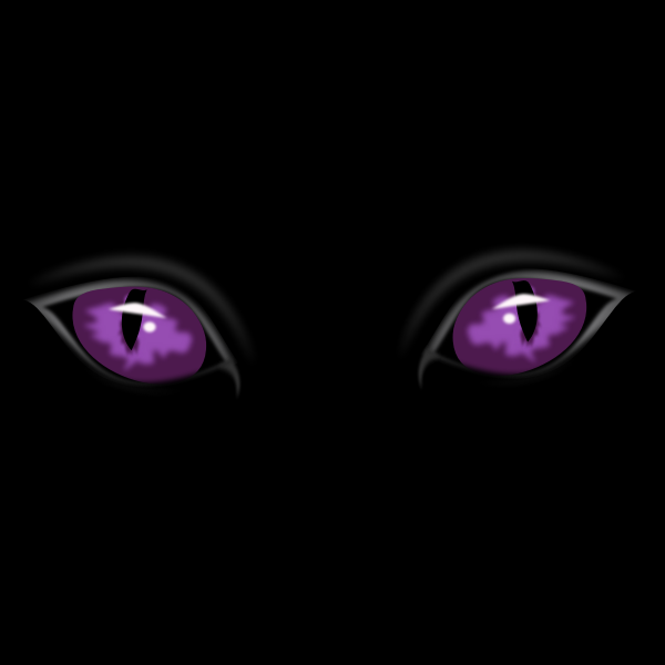Purple eyes in dark vector graphics