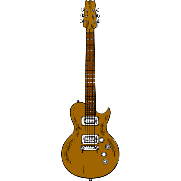 Brown guitar