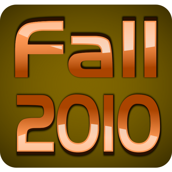 Fall 2010 glossy 3D text vector image