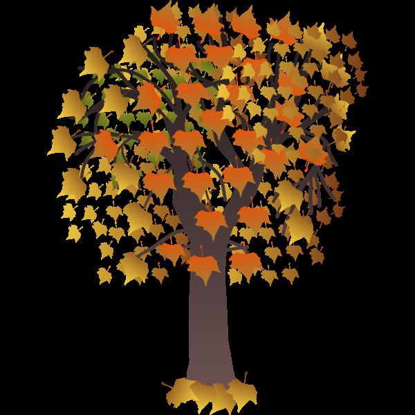 Autumn tree branch vector clip art