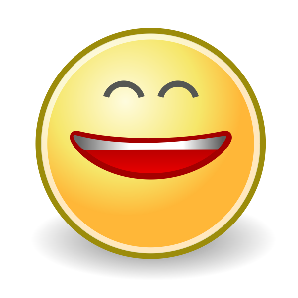 Laughing smiley face icon vector image