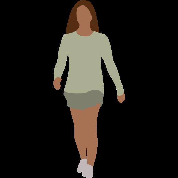 Faceless woman walking vector image