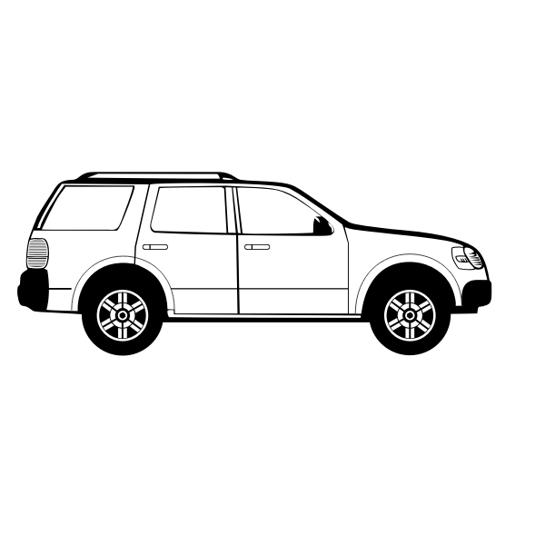 Suburban Vehicle Vector Graphics