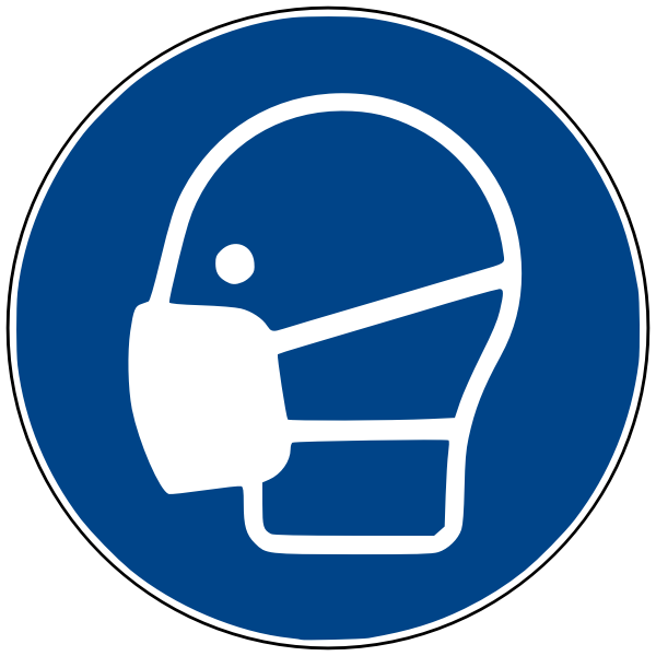 Face mask vector symbol